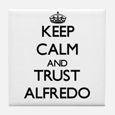 Keep Calm and TRUST Alfredo Tile Coaster