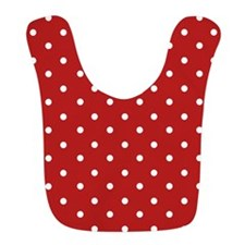 Red and White Polka Dots Bib