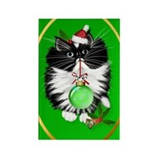 Ornament A Tuxedo Merry Christmas Rectangle Magnet