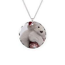 Polar Bear Cub Christmas Necklace