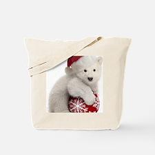 Polar Bear Cub Christmas Tote Bag