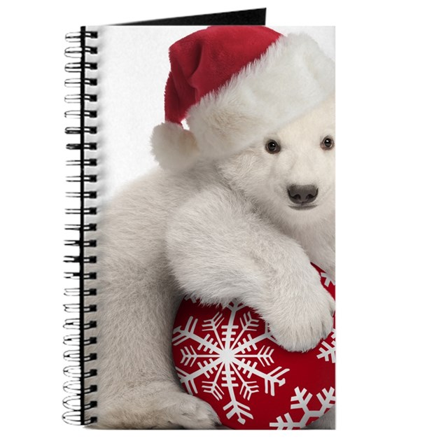 Polar bear cub christmas journal by admin cp2220218 for Belly button bears wall mural