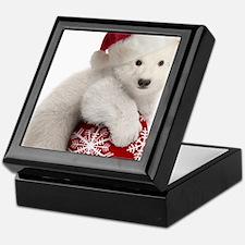 Polar Bear Cub Christmas Keepsake Box