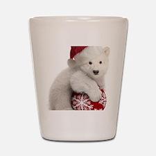 Polar Bear Cub Christmas Shot Glass