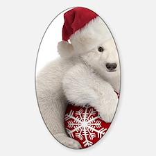 Polar Bear Cub Christmas Decal