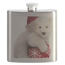 Polar Bear Cub Christmas Flask