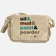 Oil Mud Paint Powder Messenger Bag