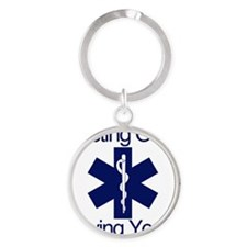 Busting Ours, Saving Yours Round Keychain