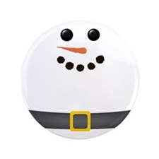 "Snowman Face 3.5"" Button"