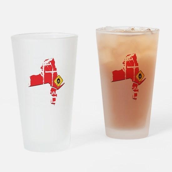 Hurricane Sandy Lineman Drinking Glass