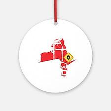Hurricane Sandy Lineman Round Ornament