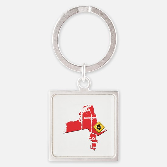 Hurricane Sandy Lineman Square Keychain