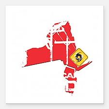 "Hurricane Sandy Lineman Square Car Magnet 3"" x 3"""
