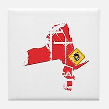 Hurricane Sandy Lineman Tile Coaster