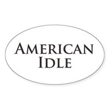 American Idle Oval Decal
