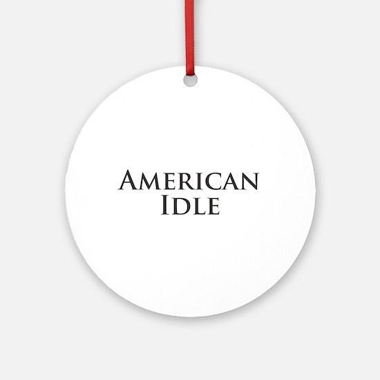 American Idle Ornament (Round)