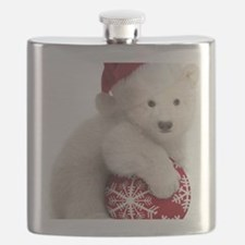 Polar Bear Cub Kids Christmas Flask