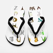 Animal Alphabet Flip Flops