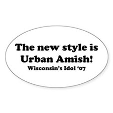 Urban Amish Wisconsin Oval Decal