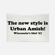 Urban Amish Wisconsin Rectangle Magnet