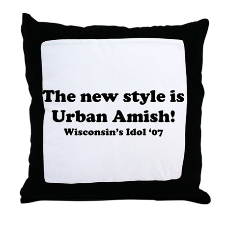 Urban Amish Wisconsin Throw Pillow