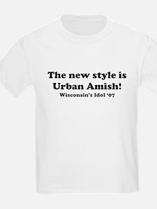 Urban Amish Wisconsin Kids T-Shirt