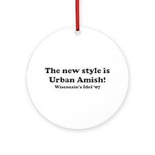 Urban Amish Wisconsin Ornament (Round)