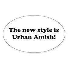 Urban Amish Oval Decal