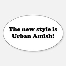 Urban Amish Oval Decal