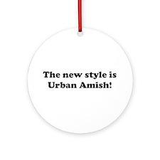 Urban Amish Ornament (Round)