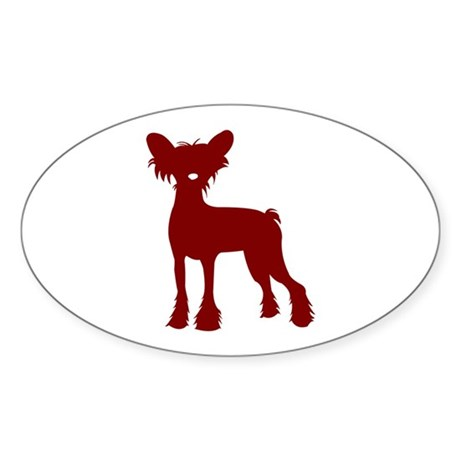 Just Crested (Red) Oval Sticker