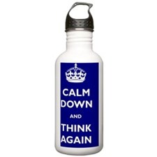 Calm Down And Think Ag Water Bottle