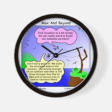 Windy Spider Website Cartoon Wall Clock
