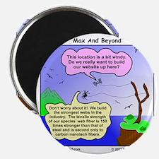 Windy Spider Website Cartoon Magnet