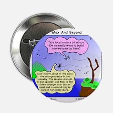 """Windy Spider Website Cartoon 2.25"""" Button"""