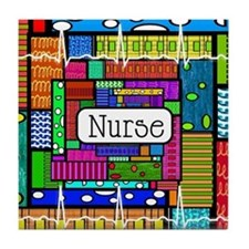 Nurse blanket Tile Coaster