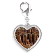 Bryce Canyon National Park Jus Silver Heart Charm