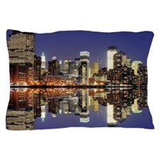 Cityscape of the west side of Lower Ma Pillow Case