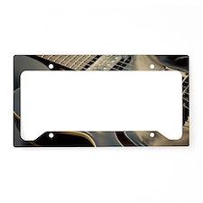 Close up shot of black guitar License Plate Holder