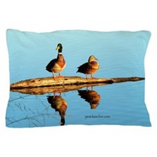Ducks at sunset Pillow Case