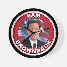 Sam Brownback Wall Clock
