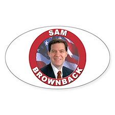 Sam Brownback Oval Decal