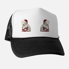 Polar Bear Cub Christmas Trucker Hat