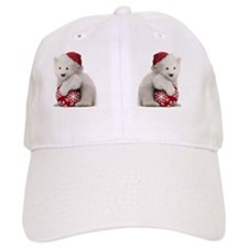 Polar Bear Cub Christmas Baseball Cap