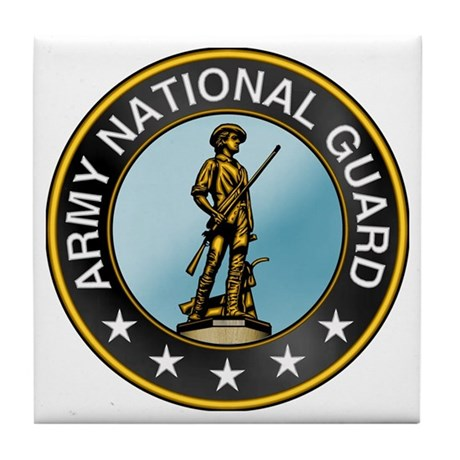 Army National Guard Tile Coaster: Military