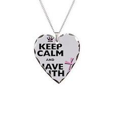 Keep Calm and Have Faith - pi Necklace