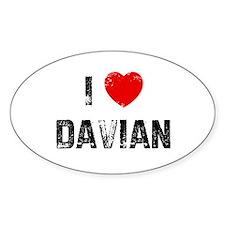 I * Davian Oval Decal