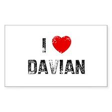 I * Davian Rectangle Decal