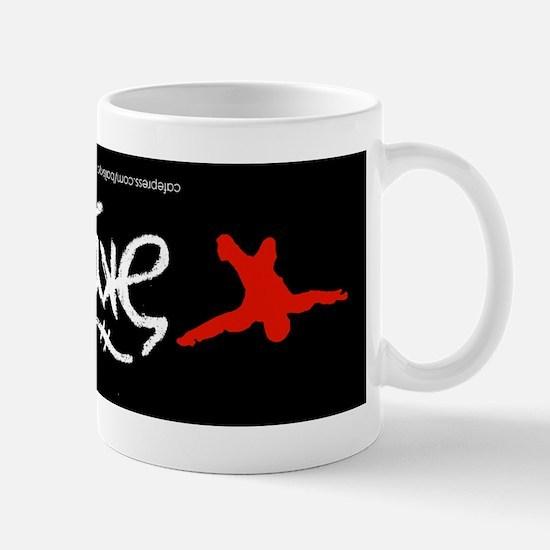 Skydive Ambigram Bumper Sticker Mug
