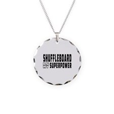 Shuffleboard Is My Superpower Necklace